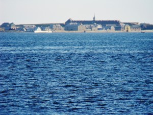View of the fortress from across Louisbourg Harbour
